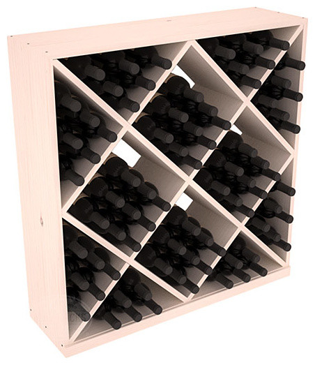 Solid Diamond Wine Storage Cube in Pine with White Wash Stain contemporary-wine-racks