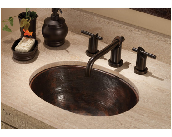 Cameo Antique Copper Sink by Native Trails - A perfect mix of practical and beautiful - that's Cameo. With a generous, deep basin, this versatile bathroom sink can be installed as a copper undermount sink or as a copper drop-in sink - all while showing its lustrous hand hammered copper texture. Cameo was previously called Oval. As with all our sinks, it is artisan-crafted of reclaimed copper, then hand-hammered for its gorgeous texture. Available in Antique and hand-dipped Brushed Nickel finishes.
