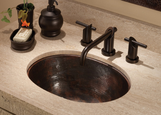Cameo Antique Copper Sink by Native Trails traditional-bathroom-sinks