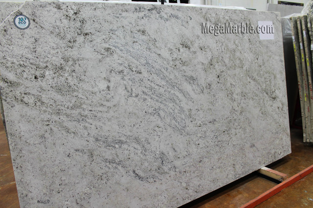 Salinas White Granite Slab - Contemporary - Kitchen Countertops - new york - by Mega Marble