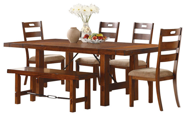 Homelegance Clayton 7 Piece Extension Dining Room Set In