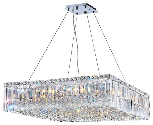 W83514C28 Cascade Chandelier 28 In. - 12 Light in Chrome modern-chandeliers