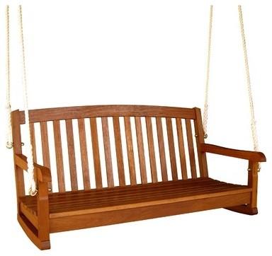Balau Porch Swing Modern Porch Swings
