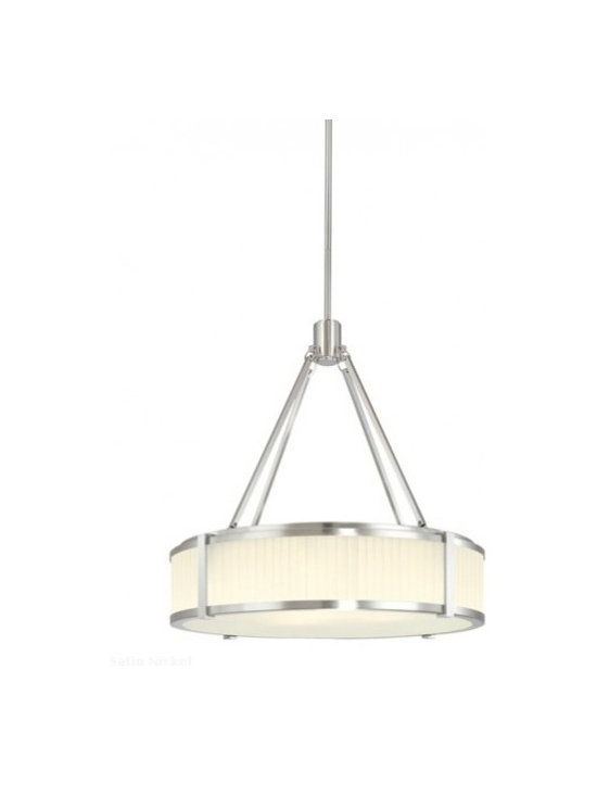 """Sonneman - Sonneman Roxy 22"""" Pendant Light - The Roxy 22 Pendant Light by Sonneman has been designed by Robert Sonneman. The Roxy 22 Pendant Light conveys the glamorous elegance of 1940s modernism when deco reigned and luxury was in style. Strong forms and crisp details are set against fabric-like softly fluted glass. Offered in polished nickel with an etched fluted glass shade.  Product description:  The Roxy 22 Pendant Light by Sonneman has been designed by Robert Sonneman. The Roxy 22 Pendant Light conveys the glamorous elegance of 1940s modernism when deco reigned and luxury was in style. Strong forms and crisp details are set against fabric-like softly fluted glass. Offered in polished nickel with an etched fluted glass shade.      Details:         Manufacturer:     Sonneman         Designer:    Robert Sonneman        Made in:    USA        Dimensions:     Height:22.5"""" (57.15 cm) X Diameter:22"""" (55.88 cm ) X CanopyDiameter:5"""" (12.7 cm)         Light bulb:     4 X A19 Medium Base Max 100W Incandescent (not included)        Material:     Fluted Glass"""