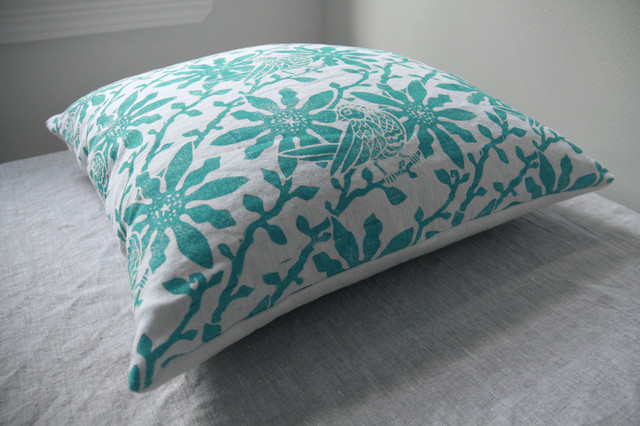 Hand Printed Linen Pillow Covers decorative-pillows