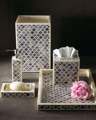 Bone Inlay Vanity Accessories traditional-bath-and-spa-accessories