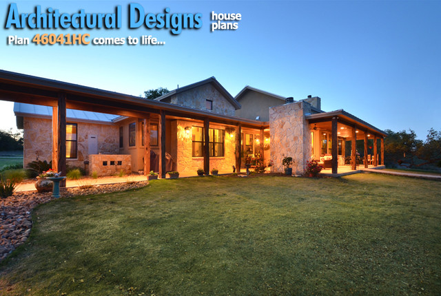 House plans and design architectural designs hill country for Hill country home plans