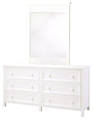 Woodland White 6-Drawer Dresser modern-dressers-chests-and-bedroom-armoires