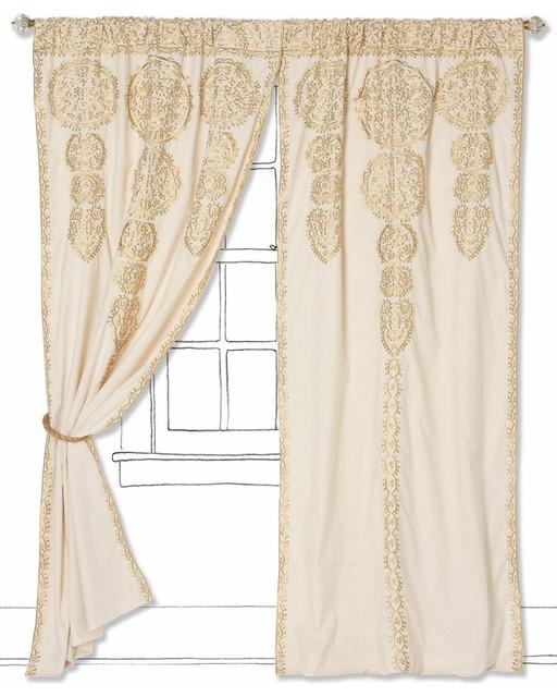 marrakech curtain gold mediterranean curtains by anthropologie