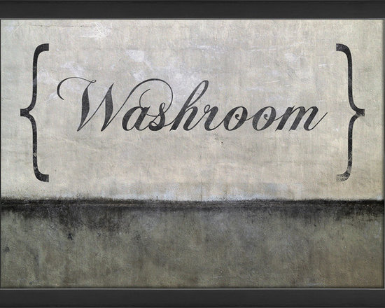 The Artwork Factory - 'Washroom' Print - Restroom, toilet, bathroom, ladies, loo ... whatever you call the lavatory, it's good for guests to know where to find it. The euphemistic 'washroom' sign, elegantly directs visitors to the sacred room. The ready-to-hang, wood-framed antique print will beckon all those who need to hand wash.
