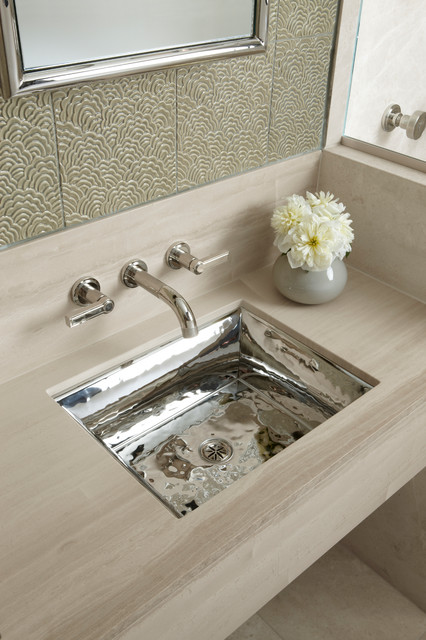Bacifiore Undercounter Basin by Mick De Giulio modern-bathroom-sinks