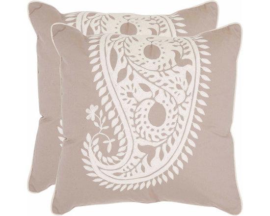 Safavieh Neutral Paisley Pillow -