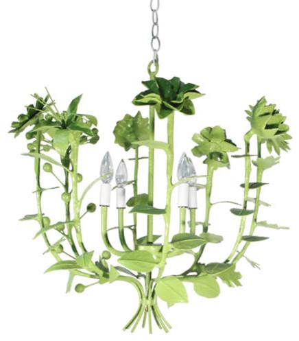 Terrell Swan Chandelier eclectic-chandeliers