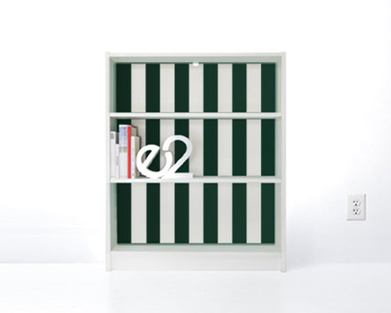 PANYL Forest Thick Stripes for IKEA BILLY - Give your bookcase a bold new look with PANYL Thick Stripes. Easy to apply and no mess!