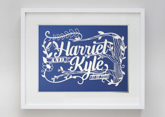 Custom Wedding Paper Cut by Epic Layers contemporary-artwork