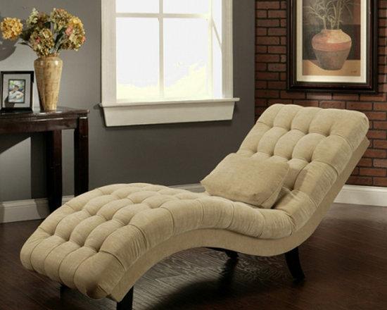 Abbyson Living - Abbyson Living Thatcher Fabric Chaise in Cream -