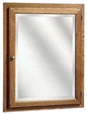 Bostonian series 24 x 30 red oak surface mount or recessed medicine cabinet in modern - Modern medicine cabinets recessed ...