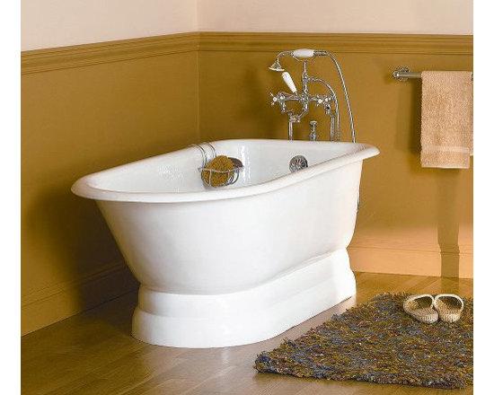 Sunrise Specialty Classic Pedestal Bathtub - 61-inch Classic Pedestal Bathtub with Round Rim and No Faucet Drillings