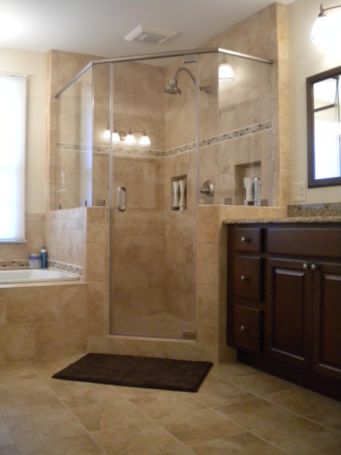vienna master bath shower traditional bathroom