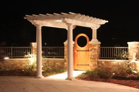 Curved pergola project entryway 2012 traditional