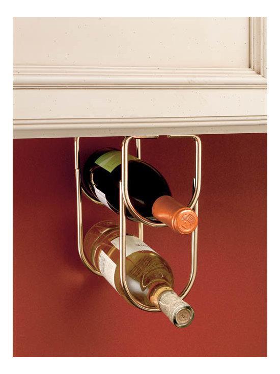 Under-Cabinet Wine Bottle Organizer -