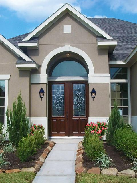 Prehung Entry Double Door 96 Solid Mahogany Courtlandt 2 3 Lite Glass Tradi