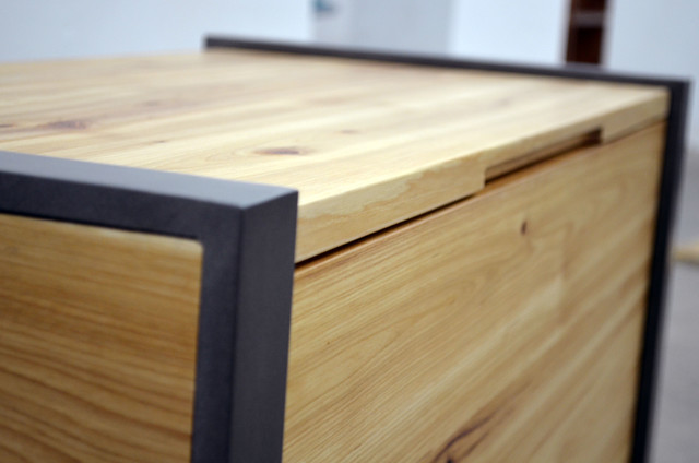 Modern Solid Wood And Metal Toy Box Modern Kids