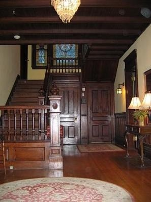 The foyer is quite large but Victorian Mansion Foyer