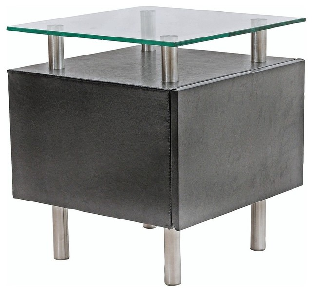 Modern black square end table with storage Molino modern-side-tables-and-end-tables