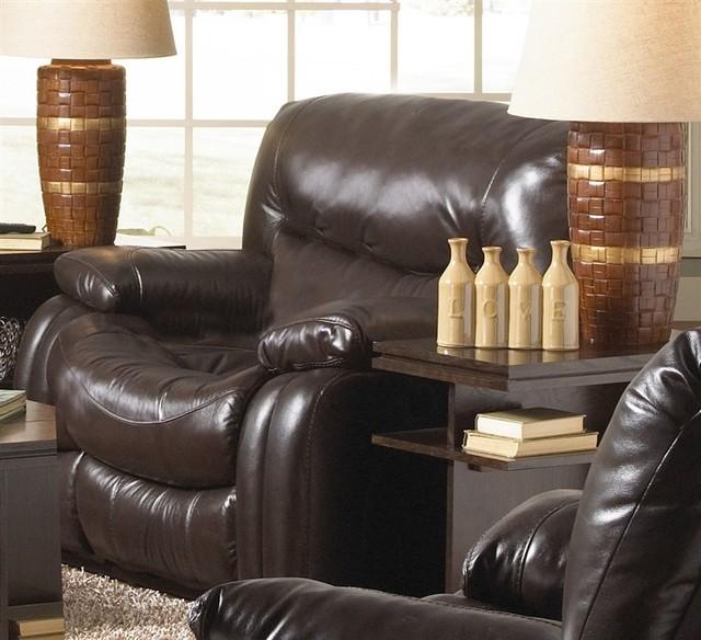 Catnapper arlington power glider recliner in mahogany for Catnapper maverick chaise swivel glider recliner