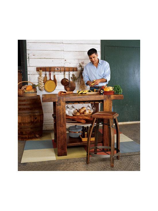 Barrel Stave Kitchen Island -