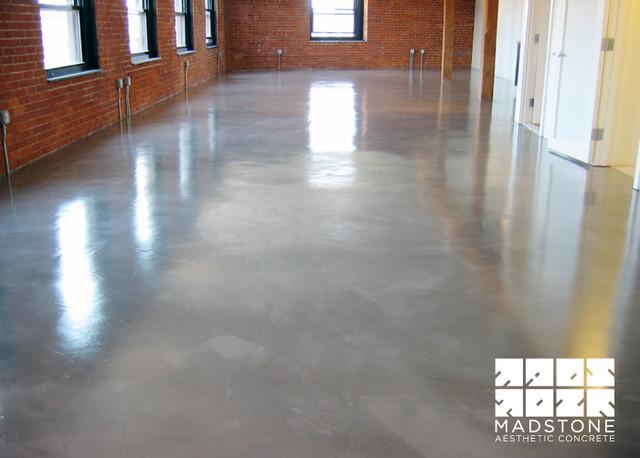 Polished concrete floor in boston loft modern other for Modern concrete floor