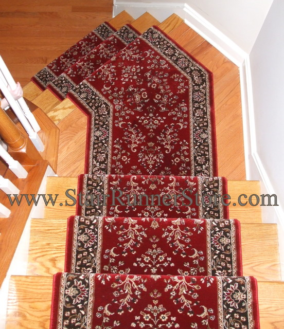 Angled Landing Stair Runner traditional-rugs