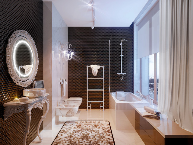 PENTHOUSE st. Gilyarovskogo - modern - bathroom - other metro - by ...