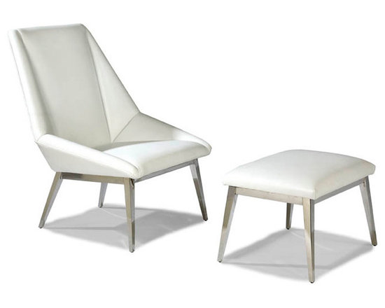 Origami Lounge Chair and Ottoman (stainless steel) from Thayer Coggin - Thayer Coggin Inc.