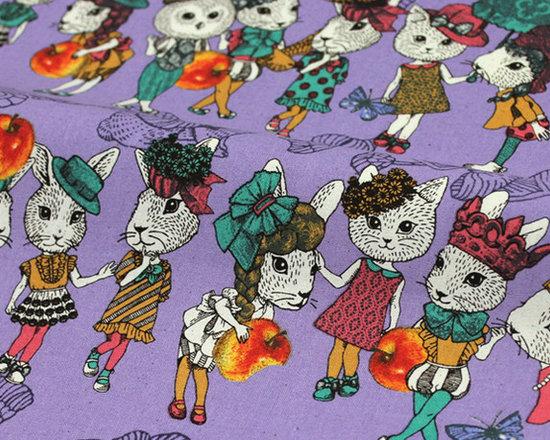 Kawaii Wonderland - Grade A cotton fabric with so cute Rabbits!  I am like in Wonderland again ...