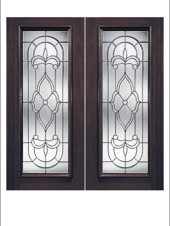 Exterior and Interior Beveled Glass Doors Model # 980 -