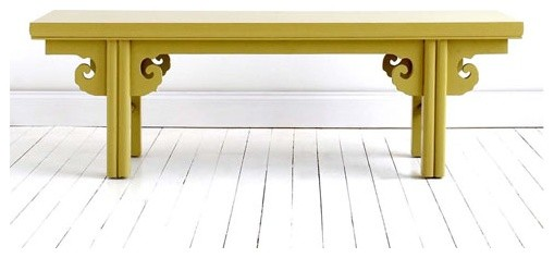 Double Happiness Long Bench asian-dining-benches