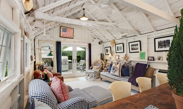 East Hampton Village Barn - Traditional - Living Room - new york - by ...
