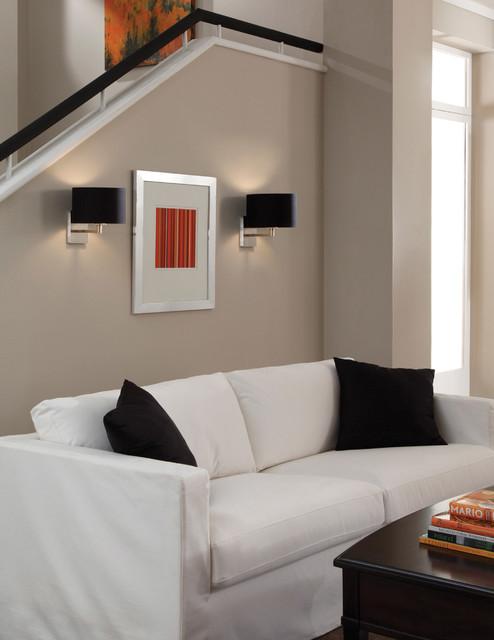 Tech Lighting 700WSCHLBS Chelsea Wall Sconce w/ Black Fabric Shade