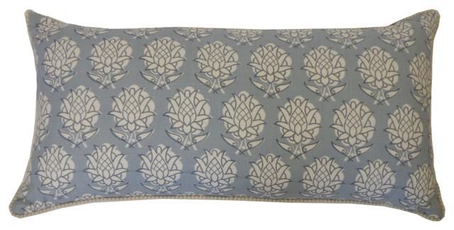 Pineapple Smoky Blue Pillow, Small - Mediterranean - Decorative Pillows - by Jiti