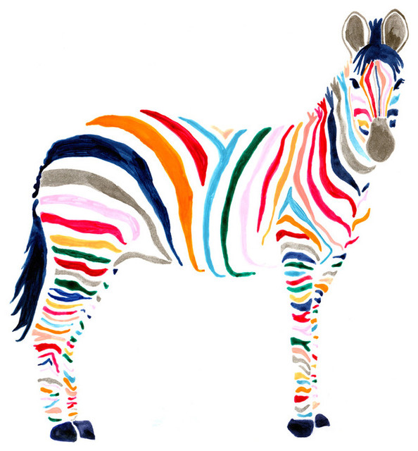 Zebra Print - Contemporary - Artwork - by Stampa