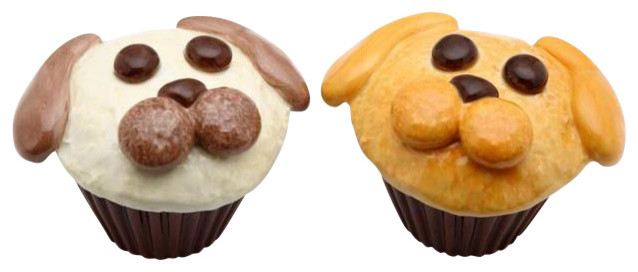3 1/8 Inch Dog Face Cup Cake Style Salt and Pepper Shaker Set - Eclectic - Salt And Pepper ...
