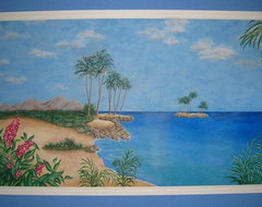 Hand Painted & Stenciled Designs & Murals - Hawaii ocean traditional 