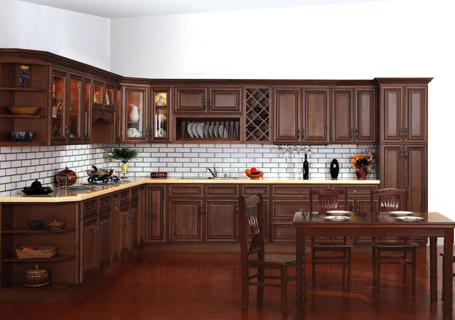 Pecan Rope Cabinets Traditional Kitchen Cabinetry Orange County By Pctc Cabinetry Inc