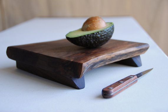 Walnut Cutting Board Rustic Wood Serving Tray By Gray Works Design contemporary knives and chopping boards