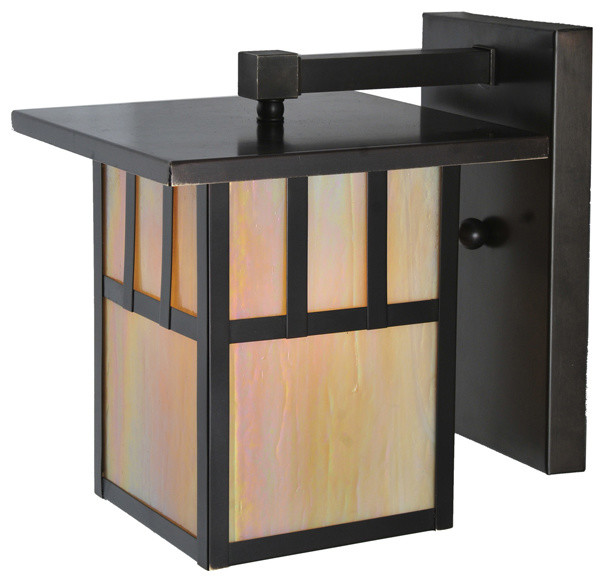 """Meyda Lighting 107713 9""""W Hyde Park Double Bar Mission Solid Mount Wall Sconce traditional-wall-lighting"""