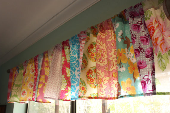Patchwork Valance Shabby Chic Window Treatment By Starlit