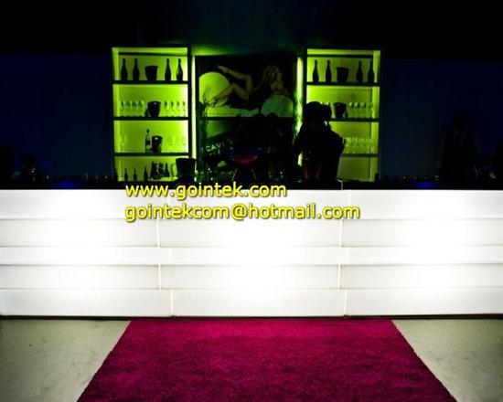 illuminated lighted bar counter -