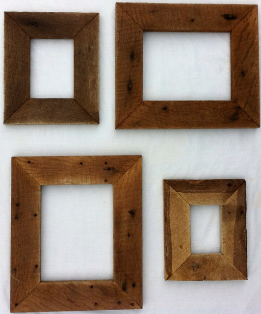Reclaimed Rustic Barn Wood Picture Frame by 3 Sisters Country Store ...